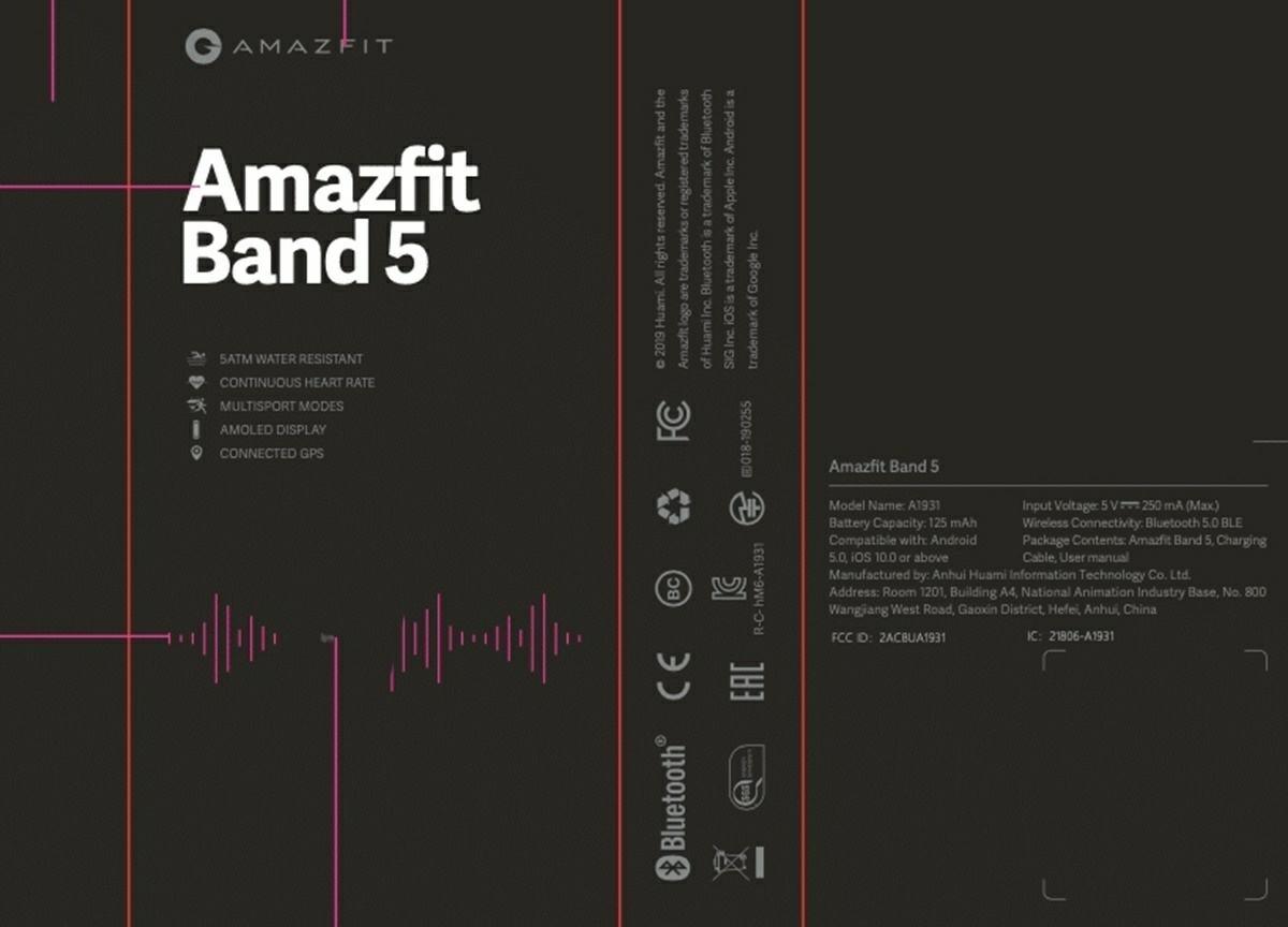 amazfit band 5 en FCC