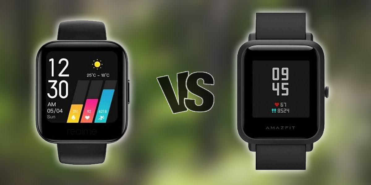 amazfit bip vs realme watch comparativa