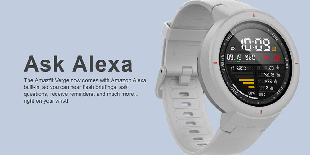 amazon alexa amazfit verge