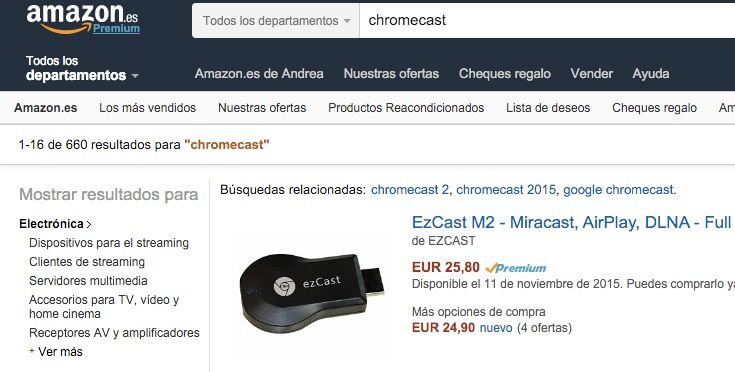 amazon deja de vender chromecast y apple tv