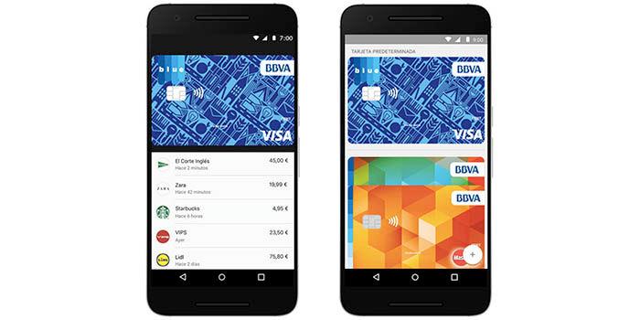 anadir tarjetas android pay