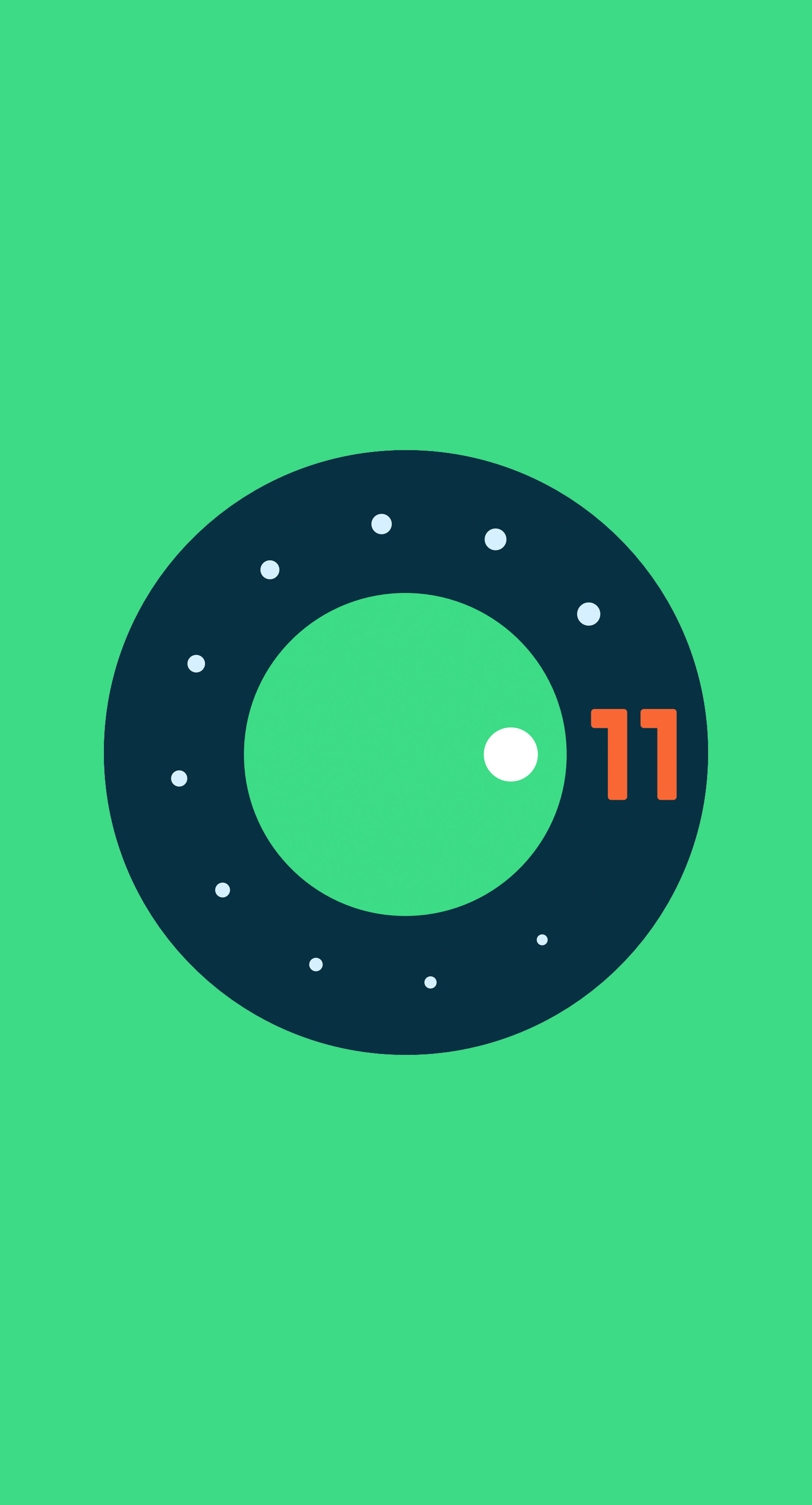 android-11-logo-green
