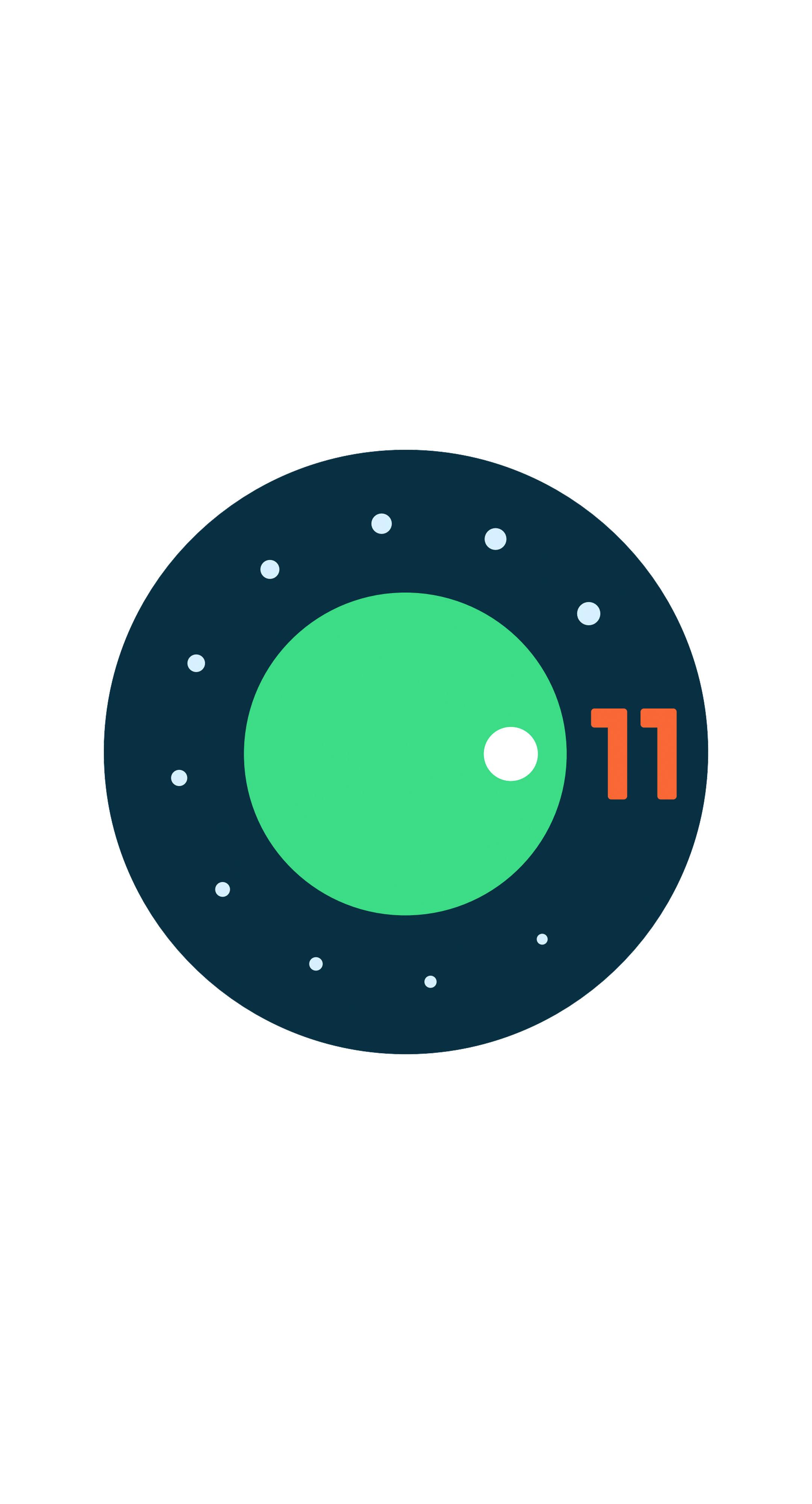 android-11-logo-white