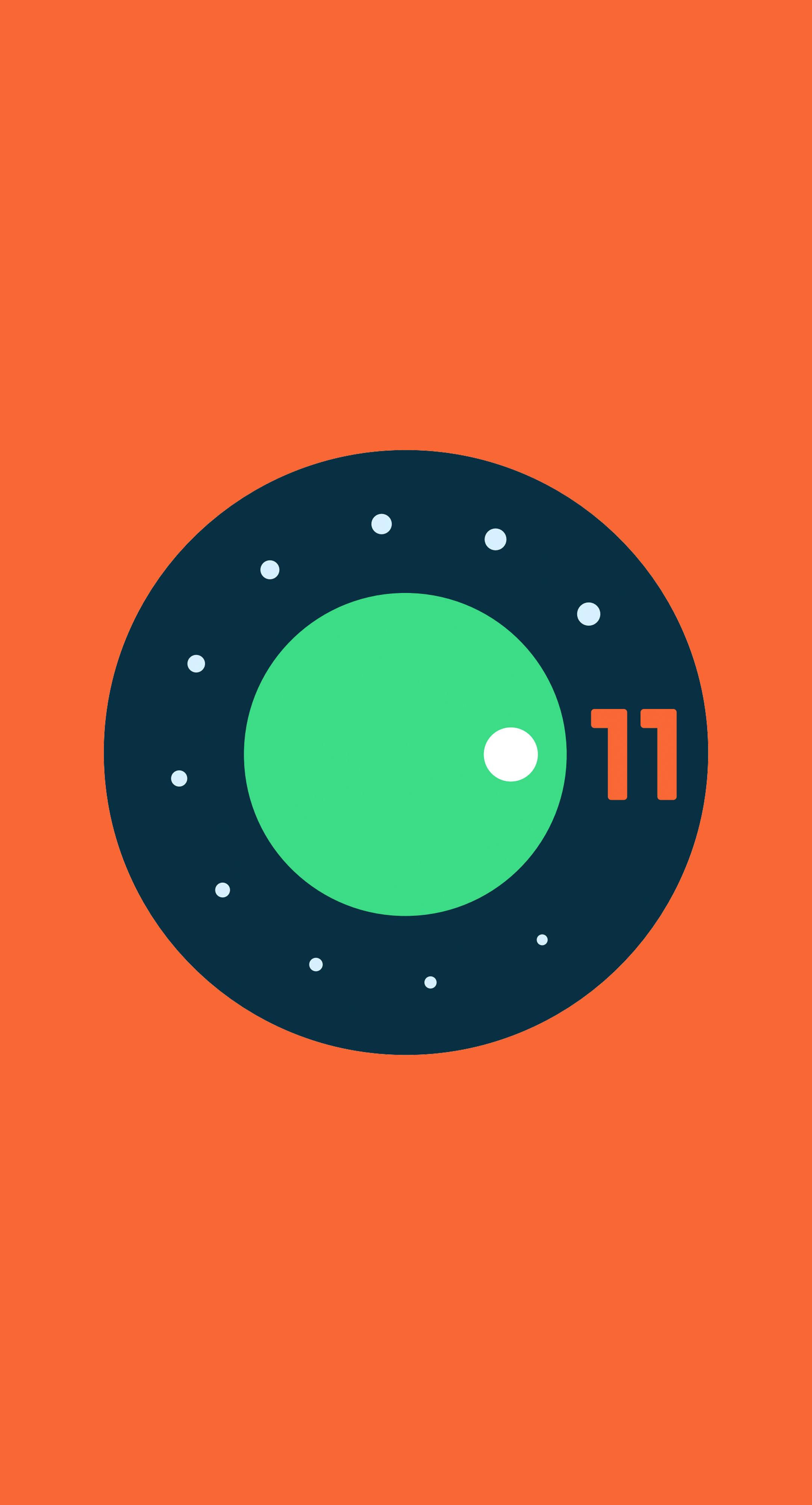 android 11 orange