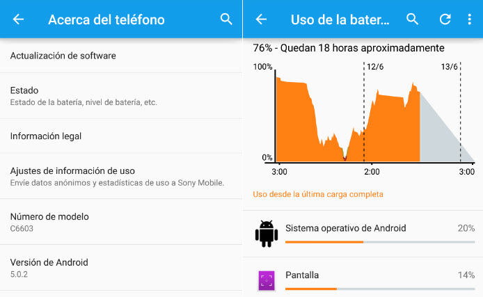android 5.0 lollipop xperia z