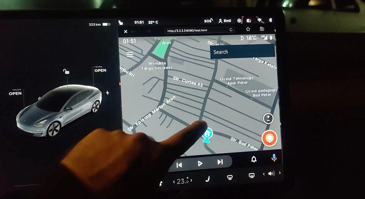 android auto en tesla