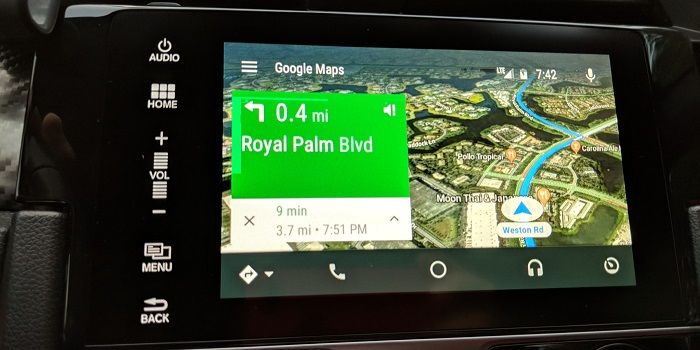 google maps satelite android auto