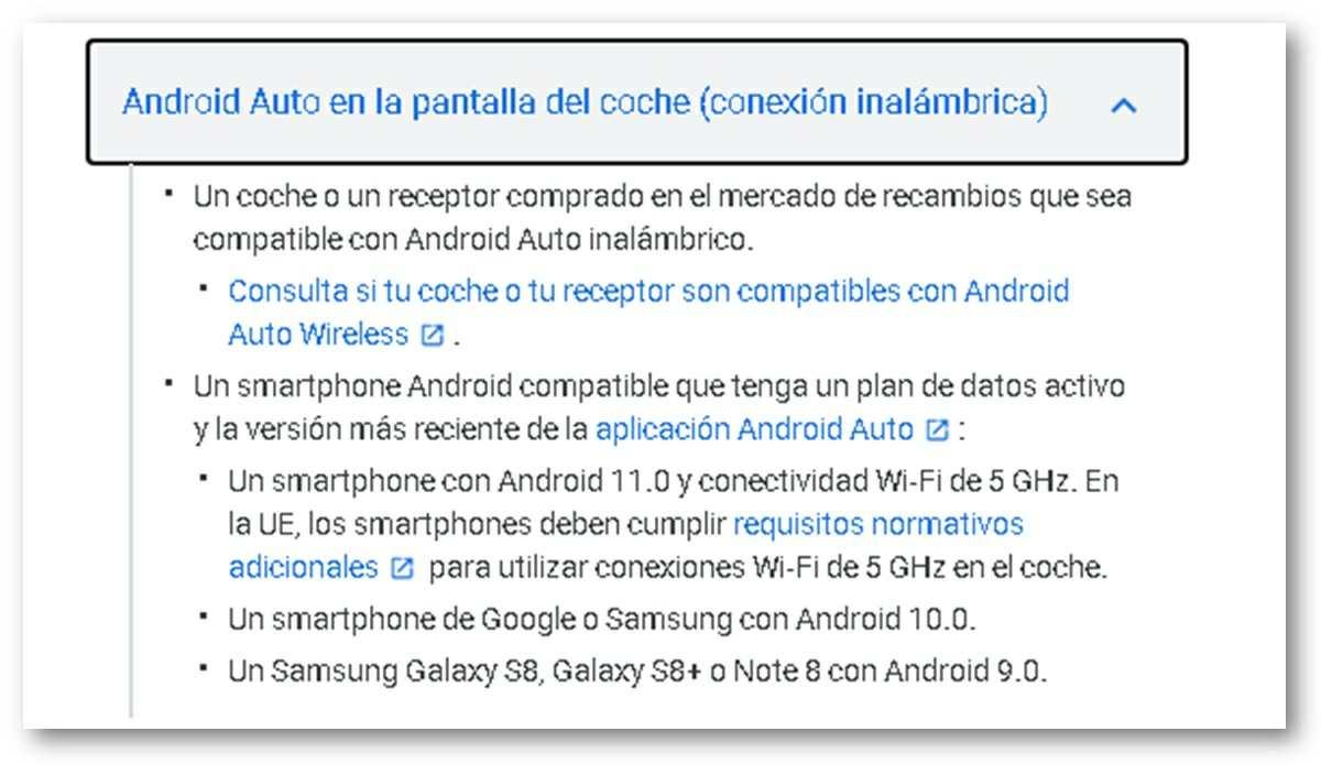 android auto inalambrico sera compatible con todos los moviles con android 11