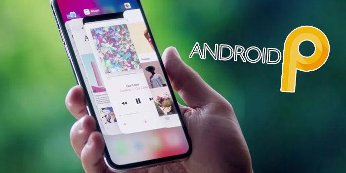 android p botones navegacion gestos iphone x