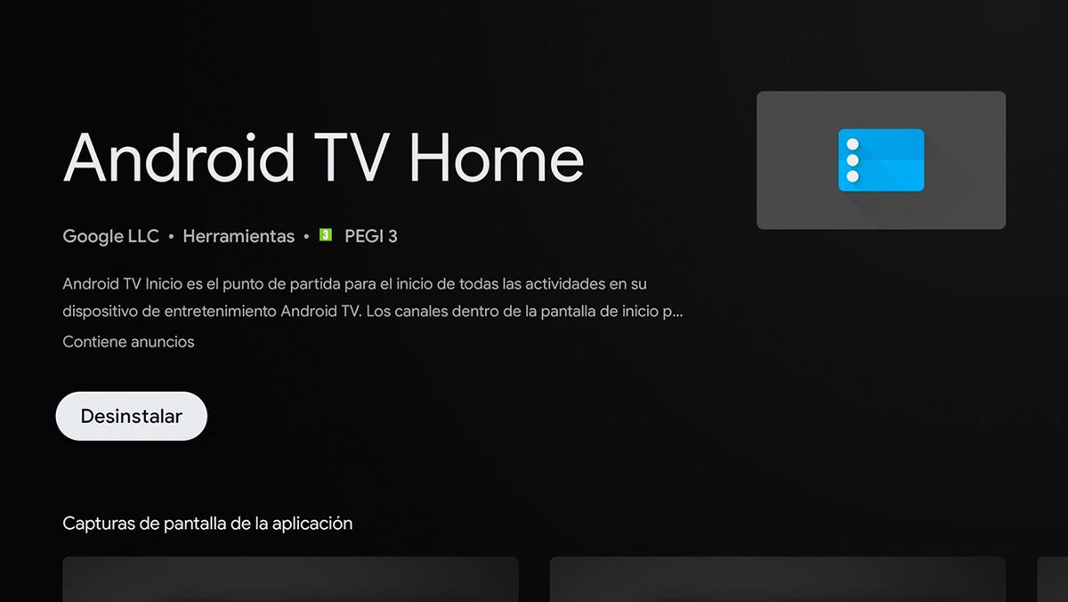 android tv home desinstalar