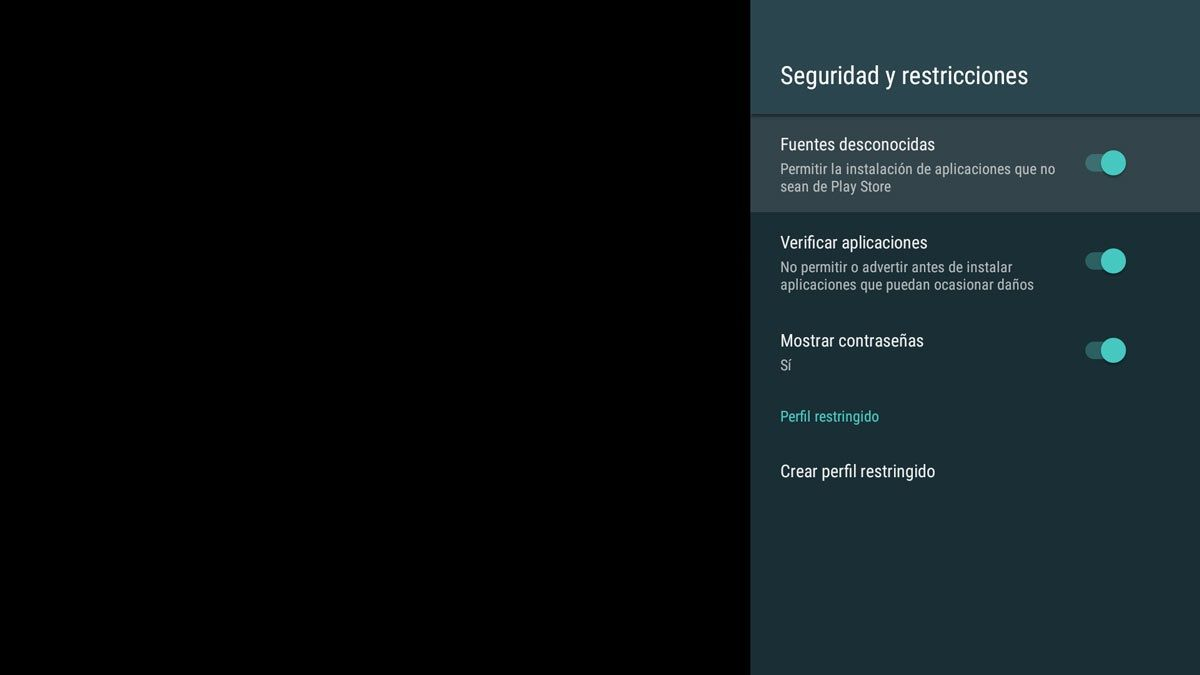 android tv origenes desconocidos