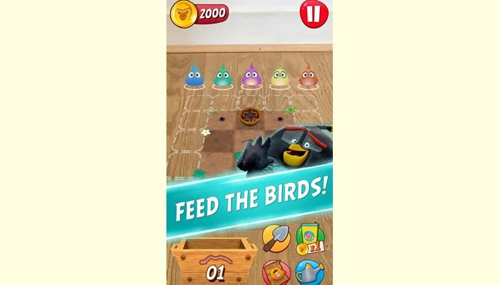 angry birds explore gusanos