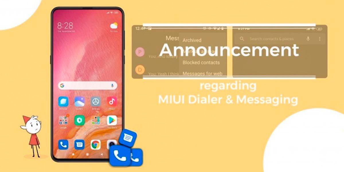 anuncio Xiaomi MIUI Calls Messages