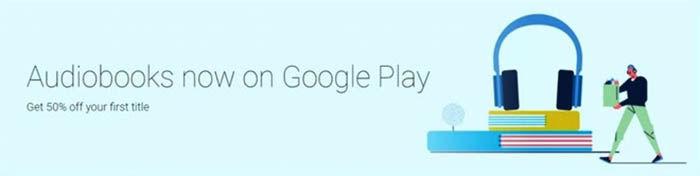 anuncio de los audiolibros en Play Books