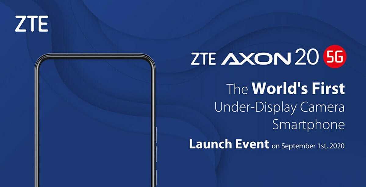anuncio del zte axon 20 5g el primer movil con camara bajo la pantalla