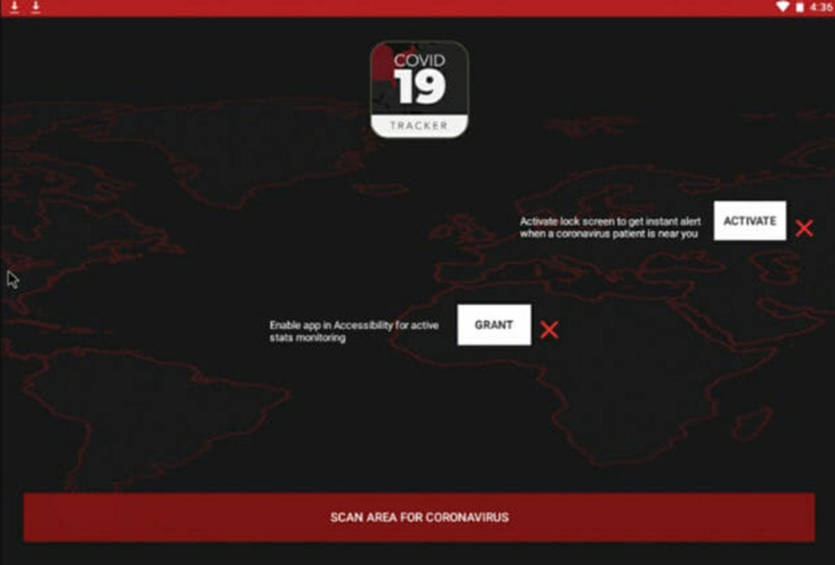 aplicacion covid 19 tracker ransomware