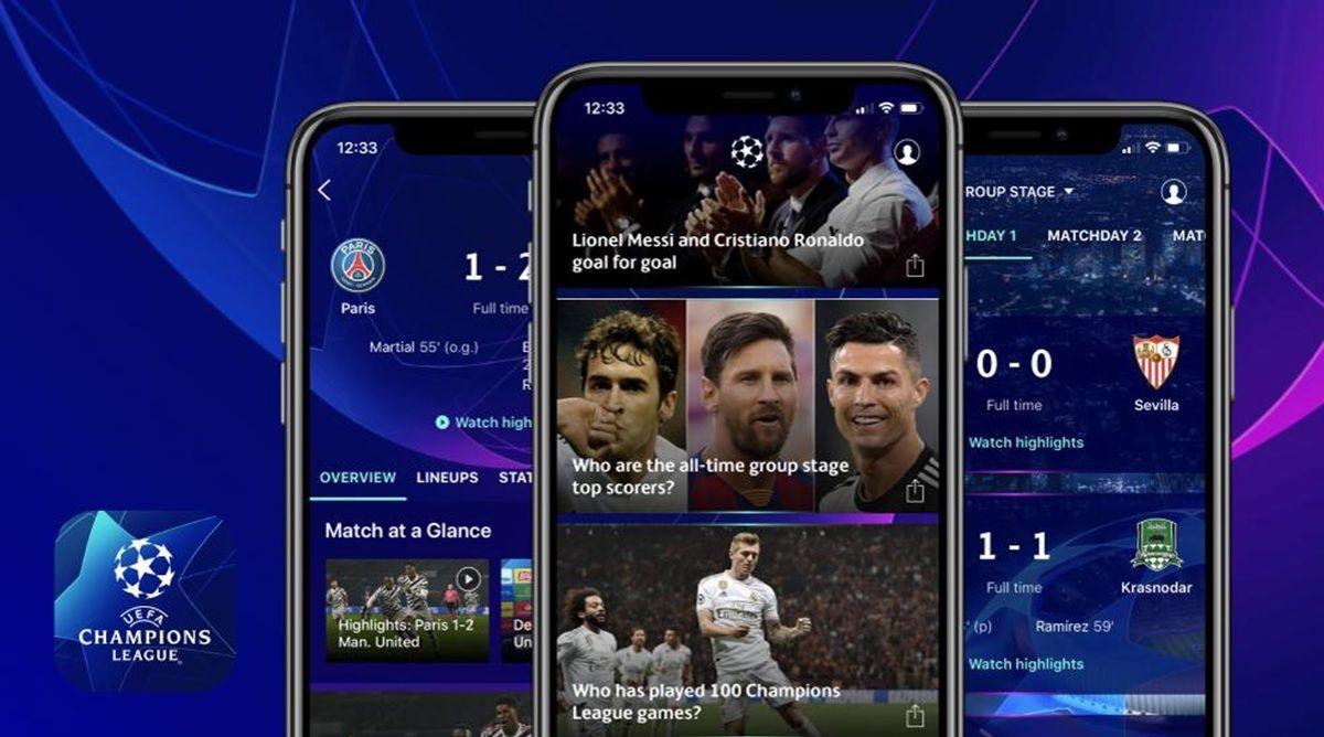 aplicacion oficial de la champions league