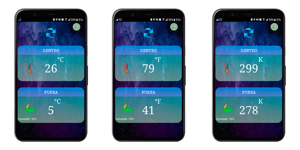 aplicación termómetro medir temperatura android