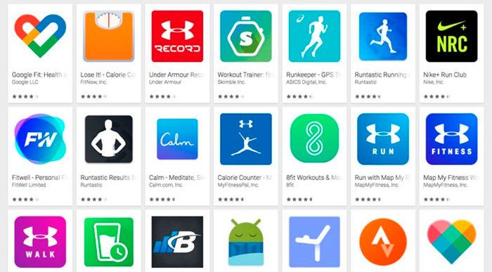 aplicaciones compatibles con Google Fit