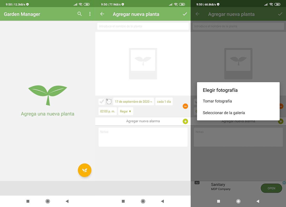 aplicaciones cuidar plantas
