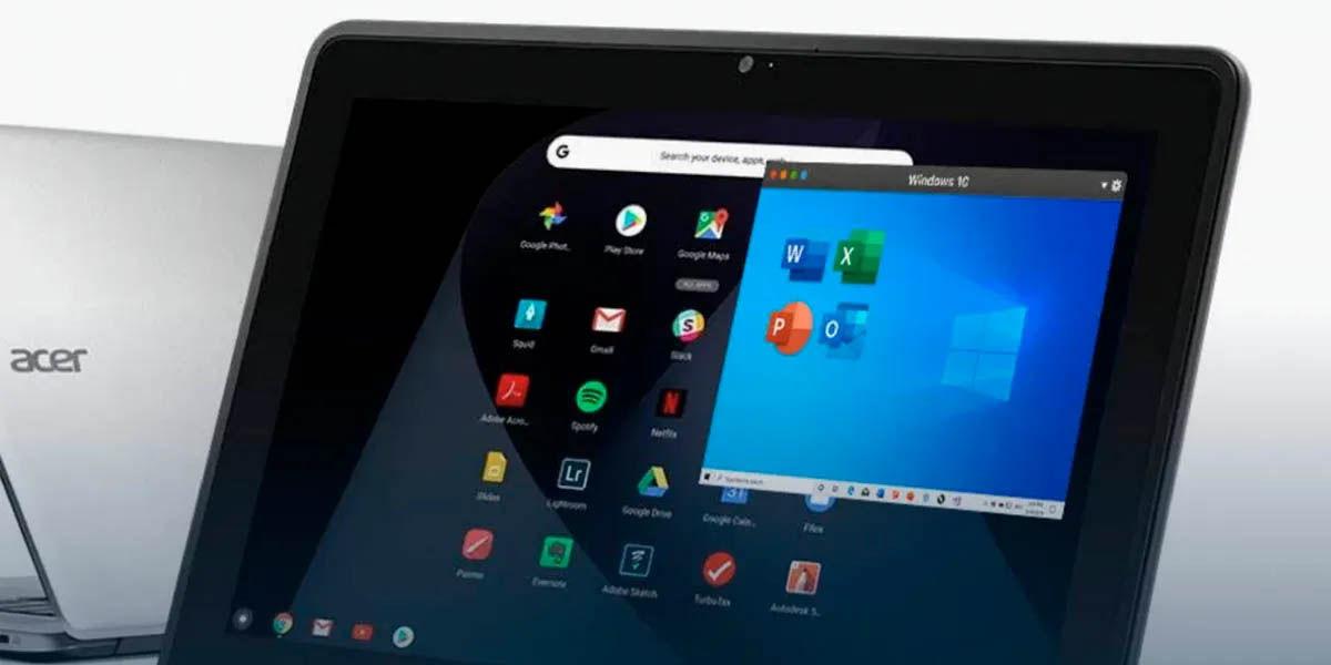 aplicaciones windows en chromebook