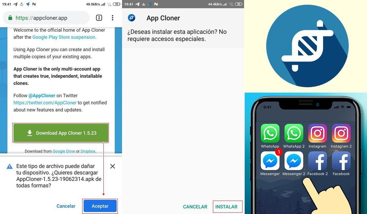 app cloner instalar instagram1
