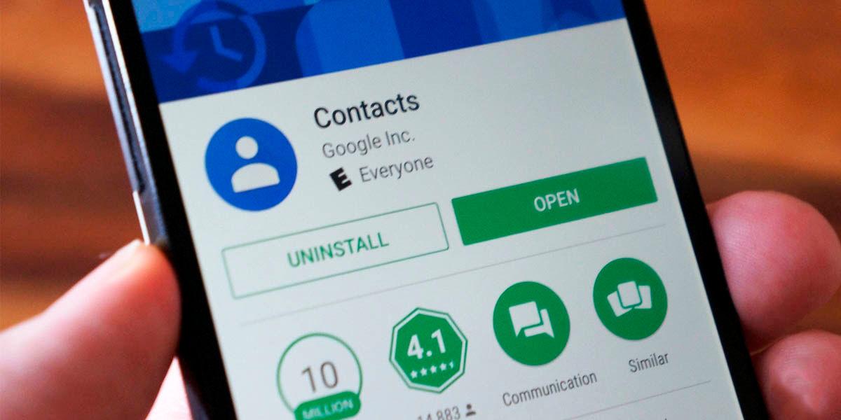app contactos de google android
