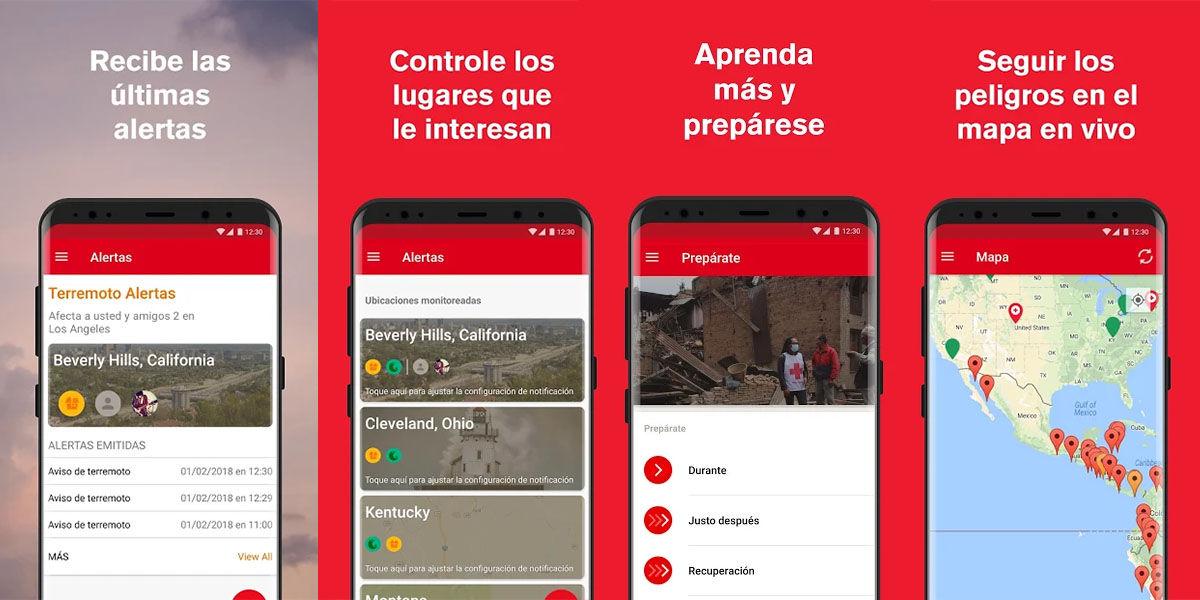 app cruz roja para prevenir terremotos