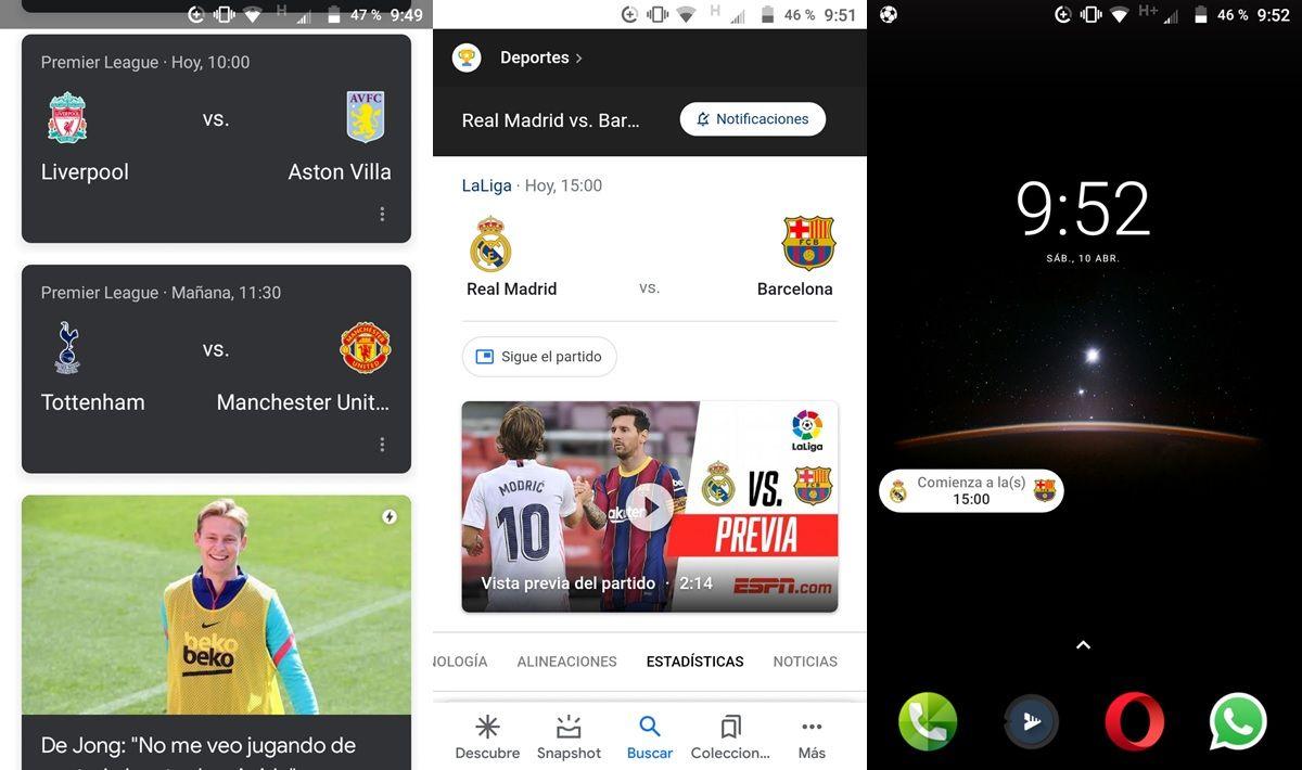 app de google resultados de futbol