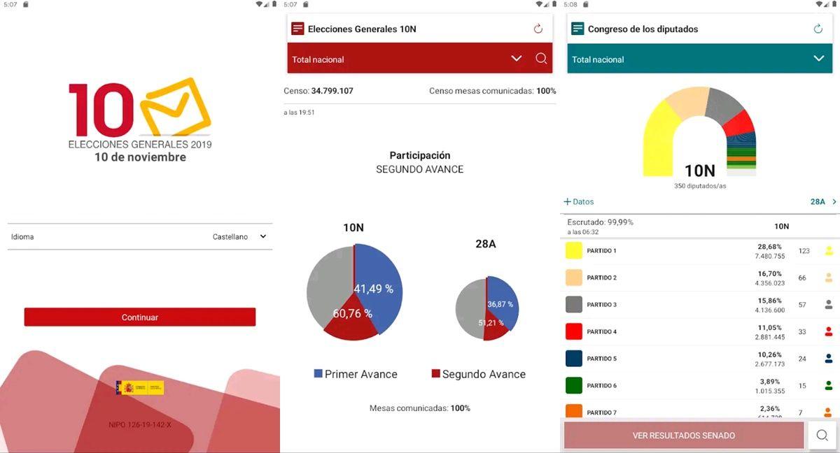 app elecciones generales 10n 2019 espana