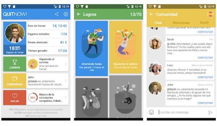 app para dejar de fumar en Android