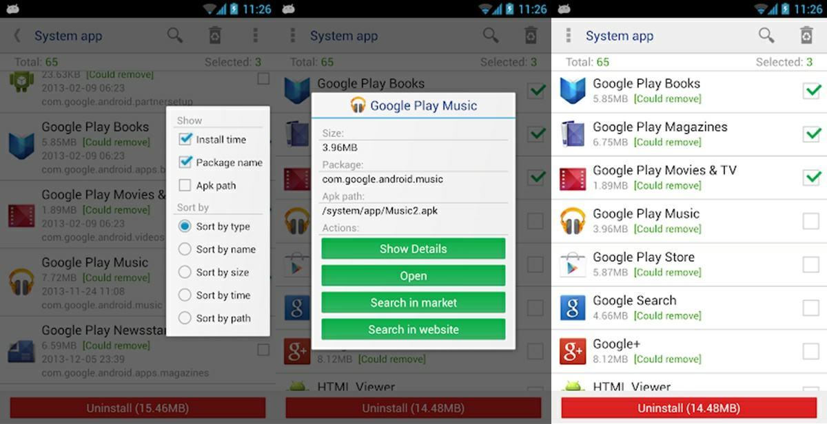 app para eliminar aplicaciones de sistema con root