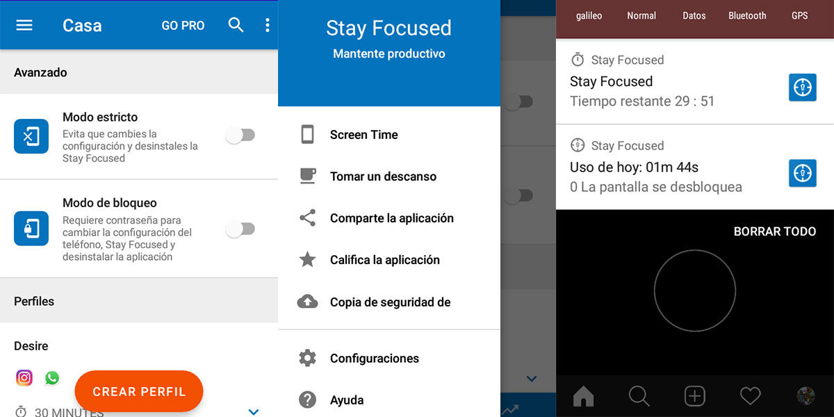 app stay focused para limitar el uso del movil