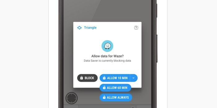 app triangle ahorrar datos