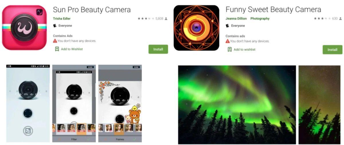 apps de camara maliciosas play store