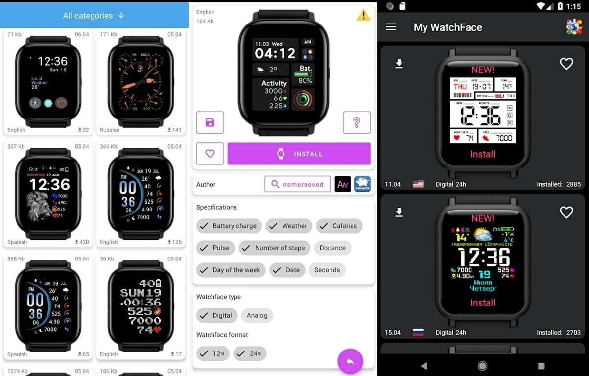 apps de watchfaces para xiaomi y amazfit rokitskiy