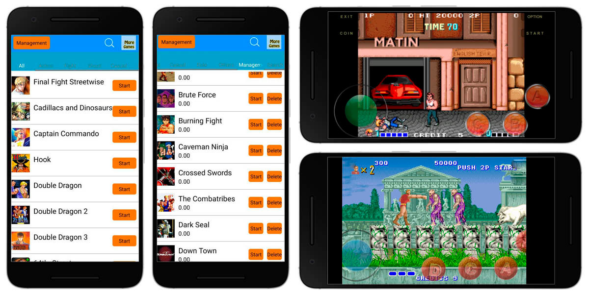 arcade games emulador recreativas retro android