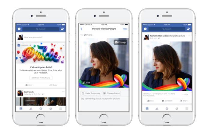 Colocale Arco iris a la foto de perfil de facebook