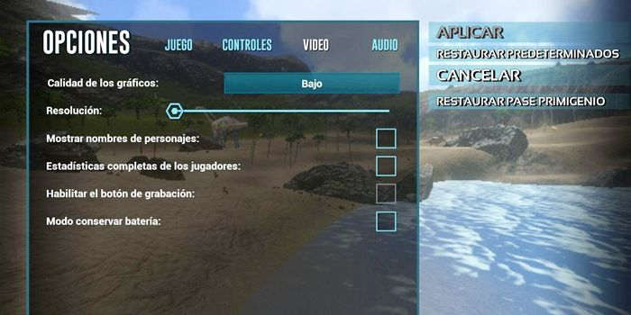 ark mobile requisitos minimos