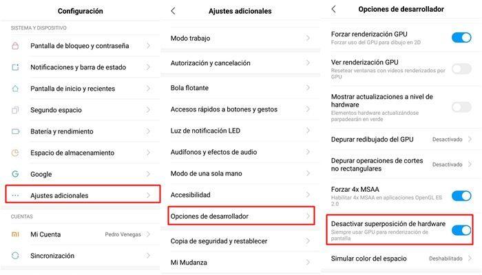 ark mobile se cierra opciones de desarrollador