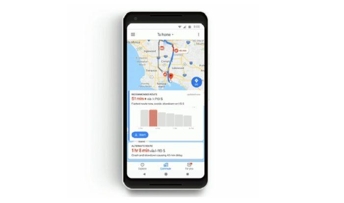 asientos libres google maps