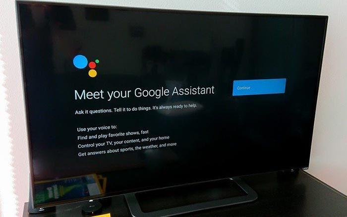asistente google tv