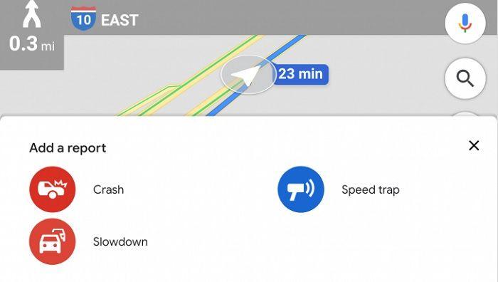 atascos google maps avisar