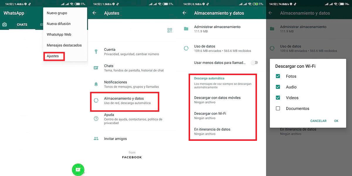 audios fotos de WhatsApp sin abrir los chats cuadro whatsapp