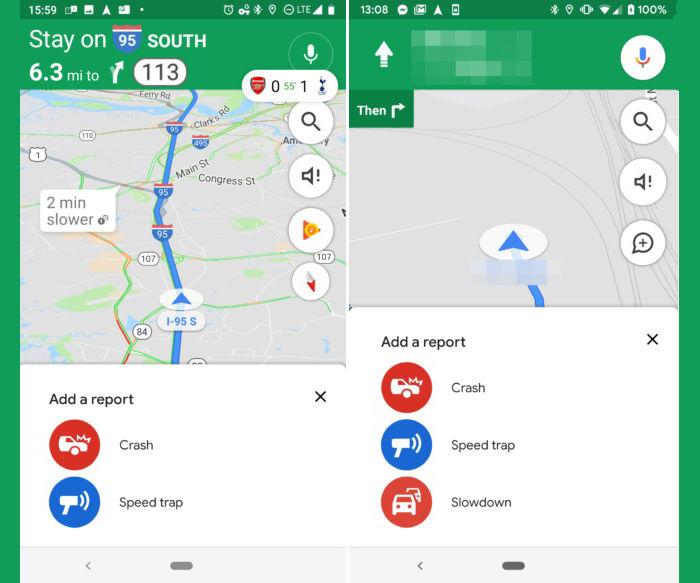 avisar atascos google maps