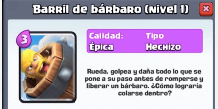 barril de barbaro clash royale