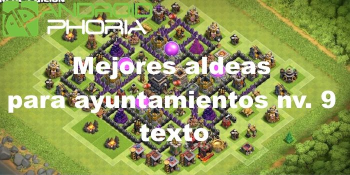 base clash of clans ayuntamiento 9