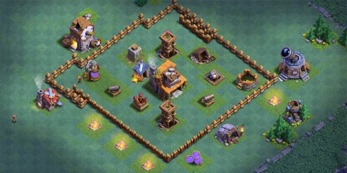 base del constructor de clash of clans