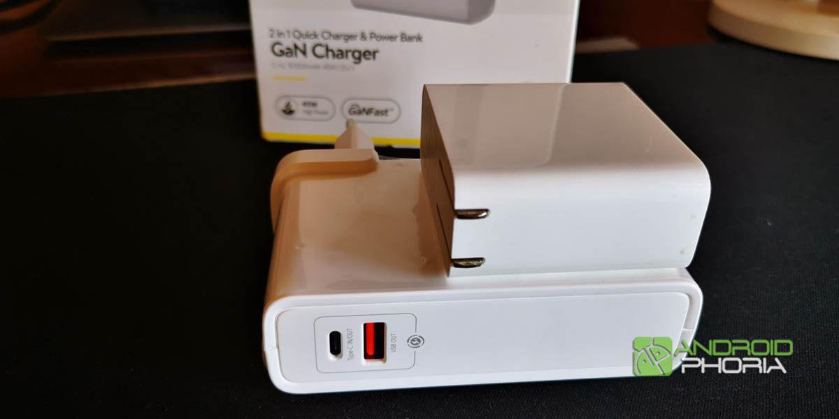baseus 2 en 1 batería externa