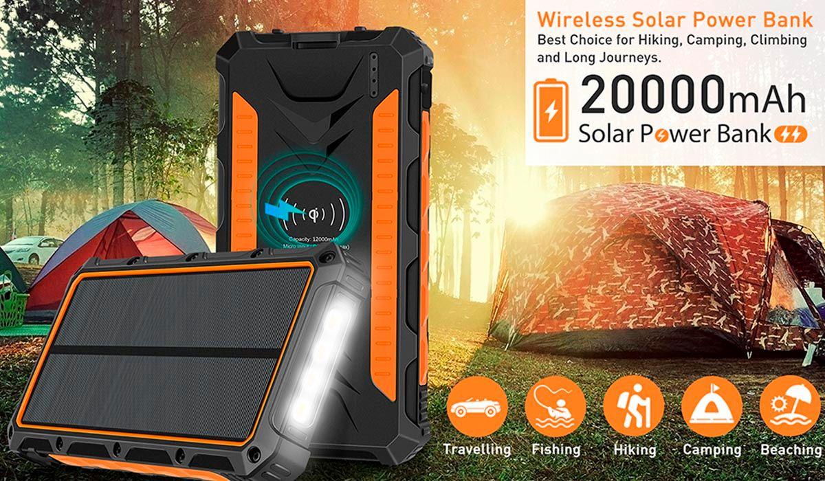 bateria portatil 2000 mAh resistente al agua y polvo juega donde quieras
